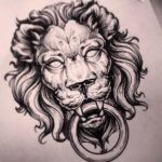 Тату эскиз льва