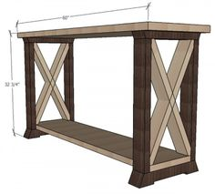 Box Leg Console Table Free And Easy Project Plans From Https Sawdust