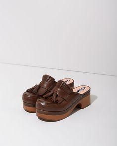 Rochas Kilted Tassel Loafer Clog | La Garçonne
