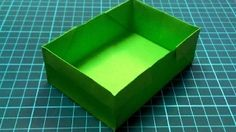 Craft And Art School - YouTube. Paper box from a rectangle (regular 8.5 x 11 paper)