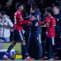 Angel Gomes of Manchester United comes on as a substitute for Marcus Rashford during the Emirates FA Cup Fourth Round match between Yeovil Town and. Yeovil Town, Marcus Rashford, Fa Cup, Manchester United, The Unit, Pictures, Angel, Times, Photos