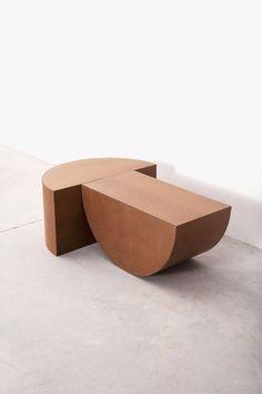 132 new architectural digest design show favorites page 28 Design Furniture, Home Furniture, Modern Furniture, Ceramic Furniture, Brown Furniture, Casa Wabi, Decor Scandinavian, Table Design, Chair Design