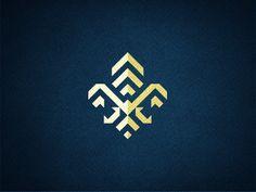 Fleur De Lis designed by Matt Vergotis. Connect with them on Dribbble; Scouts, Chevron Letter, Logo Fleur, Barber Logo, Typography Design, Lettering, Branding, Letter Logo, Body Mods
