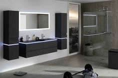 miroir salle de bain r tro clairage led horloge et antibu sanijura. Black Bedroom Furniture Sets. Home Design Ideas
