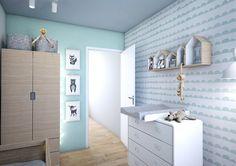 Leuk mint wandje met schilderijen van Children inspired design www.woonmakers.nl