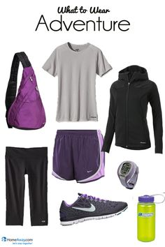 What to Wear on a hike in the Great Smoky Mountains! Missing Tennessee! Nike Workout, Workout Wear, Summer Vacation Outfits, Kinds Of Clothes, Hiking Gear, Mountain Outfits, What To Wear, Backpacking, Camping