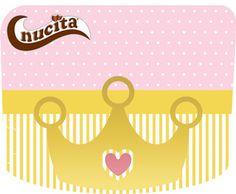 """Princesa """"Coroa dourada"""" – Kit festa grátis para imprimir – Inspire sua Festa ®"""