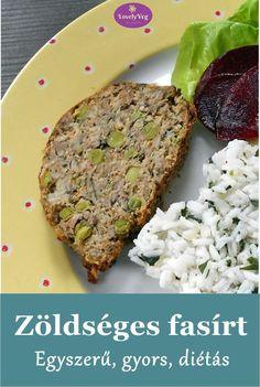 Zöldséges fasírt - Egyszerű és gyors fasírt sütőben sütve Free Food, Vegan Recipes, Food And Drink, Low Carb, Beef, Cooking, Kitchen, Kochen, Home Kitchens