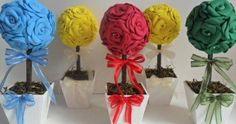 8 lindas ideias de flores de EVA para lembrancinhas de casamento