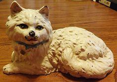 Vintage Antique Hubley Cast Iron Cat Door Stop Fireplace Hearth Cat