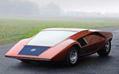 1970 Bertone Lancia Stratos Zero Concept   Front Three Quarters View