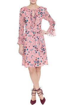 Vestido Crepe Floral Berenice