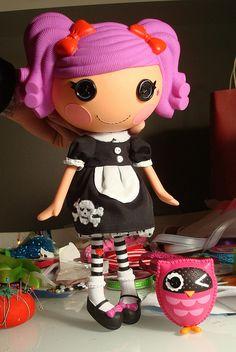 Lalaloopsy Custom Skull Dress by ElwynnHarper, via Flickr