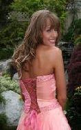 pretty girls in pink prom dresses