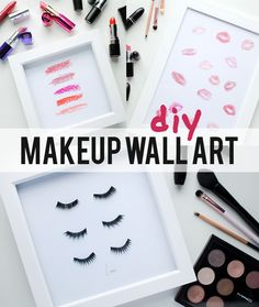 DIY Makeup Beauty Prints make up wall art vanity art decor // Pinterest…