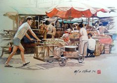 local singapore acrylic paintings - Google Search