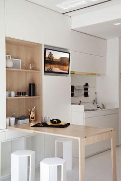 Televisión en la cocina