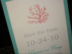 Coral Wedding Invitation Ensemble. Etsy