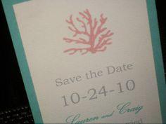 Coral Wedding Invitation Ensemble. Etsy