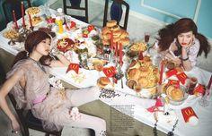 """""""Greedy Girl's Last Supper"""" by Kim Jung Sunfor Vogue Girl Korea Cocktail Images, Girl Korea, Last Supper, Food Allergies, Junk Food, Samar, Food Art, Eat Cake, Food Inspiration"""