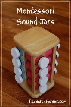 Homemade Montessori Sound Jars to Help Children Learn to Listen Carefully to Small Differences in the Way Items Sound When Shaken in Glass Jars.