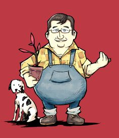 """Setz on Twitter: """"Just a friendly sapling salesman and his dog, Willie. #DeadlyPremonition… """" Scary Places, Red Tree, Video Game Art, Comic Artist, Minions, Geek Stuff, Shit Happens, Twitter, Dogs"""