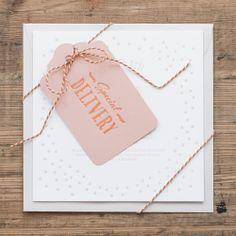 Letterpressed wedding invite by Pretty Paper, Sweden.