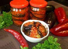 Vinete la borcan pentru iarnă – o rețetă delicioasă și ușor de preparat Russian Recipes, Tandoori Chicken, Stuffed Peppers, Vegetables, Cooking, Ethnic Recipes, Food, Women's Fashion, Canning