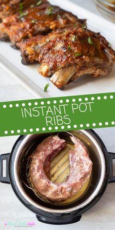 Rib Recipes, Crockpot Recipes, Cooking Recipes, Smoker Recipes, Cooking Tips, Instant Pot Ribs Recipe, Instant Pot Dinner Recipes, Instant Pot Meals
