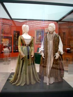 This links to a site with photos of the wedding garments of Lajos IV and Mary of Hungary, dated 1526 from Tonya Mayberry. Good close-ups that show details of embroidery, seam placement, fabric, etc.