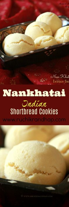Nankhatai A couple of years ago my childhood friend Veda shared her recipe for the nankhatai, a lovely Indian sweet biscuit that is usually prepared during the festive season. In India we use the term Indian Desserts, Indian Sweets, Indian Food Recipes, Kerala Recipes, Indian Dishes, Indian Cookies, Indian Cookie Recipe, Cookie Recipes, Dessert Recipes