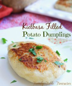 Do you like Potato Dumplings? Well you're in for a treat then! Today I'm sharing my Polish grandmother's famous filled potato dumpling recipe! Ground up kielbasa is mixed with fresh parsley and bread crumbs to make the perfect savory filling for these {Kielbasa Filled} Potato Dumplings.There are many different foods that remind me of Grammy …