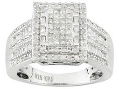 2.00ctw Princess Cut And Baguette And Round Champagne And White Diamond 10k Rose Gold Ring