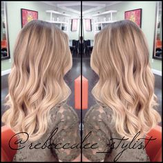 Blonde balayage highlights