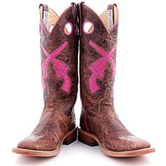 BootDaddy Collection with Anderson Bean Brown Guns Blazing Cowboy Boots|Square Toe Boots