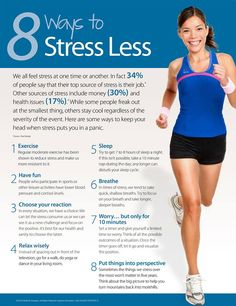 Heath  - Heathy living  -  8 ways to stress less!