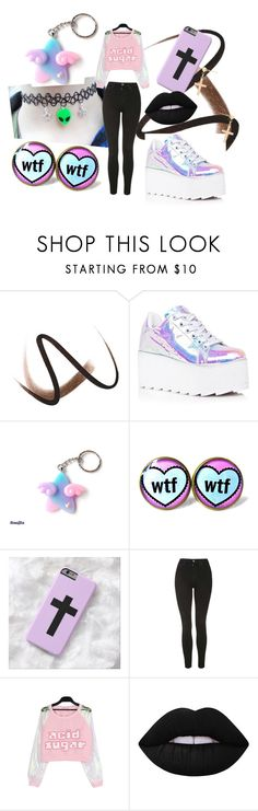 """""""pastel goth"""" by pastel-goth-tumblr on Polyvore featuring Mode, Burberry, Y.R.U., Topshop, Lime Crime und Gjenmi"""