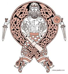 Relaxed celtic warrior design