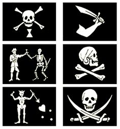 Different historical pirate flags
