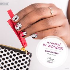 #DisneyBowDacious is the perfect iconic nail wrap for all Disney Minnie Mouse lovers! #Disney #Jamberry