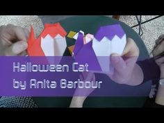 Origami Tutorial: Halloween Cat (Anita Barbour) with Jenny Chan from OrigamiTree.com - YouTube