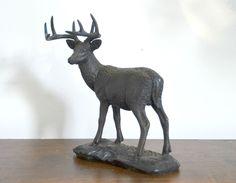 Cerf en bronze , sculpture , chasse , cervidé , collection Heredities de la boutique atelierdelachoisille sur Etsy