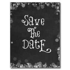 Vintage Black and White Save the Date Postcard #savethedate #weddings