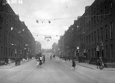 This is Lower Gardiner Street from the junction of Gloucester St (now Sean McDermott St) looking towards Mountjoy Square. The year is Dublin Street, Dublin City, Old Pictures, Old Photos, Sean Mcdermott, Gloucester Street, Dublin Ireland, Picture Video, Past