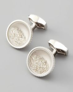 Diamond Dust Cuff Links by Tateossian at Neiman Marcus.