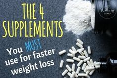 Have you ever started a weight loss diet, only to step on the scale and see the same number as before? These 4 supplements will help guarantee your results!