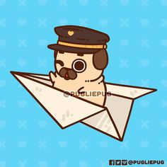 There are so many adventures out there, and so many places to poot to! Where would you fly off to with Puglie? Pug Wallpaper, Cute Disney Wallpaper, Cute Wallpaper Backgrounds, Cute Wallpapers, Cute Kawaii Drawings, Cute Animal Drawings, Pug Kawaii, Cute Funny Animals, Cute Dogs