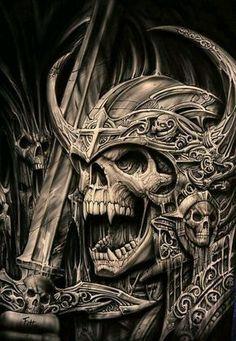 Euro 5 stage layer multilayer step by step airbrush skull stencil template stencil set - Skull - Tattoo Skull Tattoo Design, Skull Tattoos, Body Art Tattoos, Tattoo Designs, Tattoo Ideas, Evil Skull Tattoo, Dark Fantasy Art, Dark Art, Vikings Art