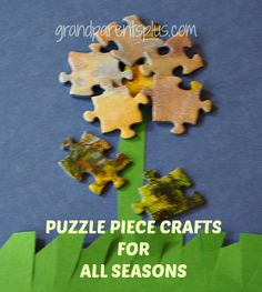 Puzzle piece crafts are easy, inexpensive and fun to do. Lots of inspiration for crafts using pieces that you would throw away. Adult and kid's crafts! Puzzle Piece Crafts, Puzzle Pieces, Toys For Boys, Kids Toys, Carters Baby Girl, Baby Girls, Homemade Toys, Puzzle Toys, Fun Crafts For Kids