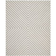 Amazon.com - Safavieh Cambridge Collection CAM129D Handmade Silver and Ivory Wool Area Rug, 9 feet by 12 feet (9' x 12') -